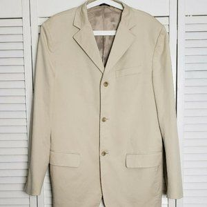 Banana Republic Tan Three Button Blazer, Size 44R